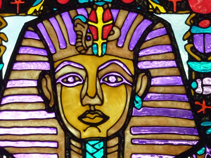 Tutankhamun, the Boy King, large window cling. $60.00, via Etsy.