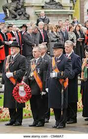 Proud Orangemen Showing Respect On Armitice Day ..LWF..