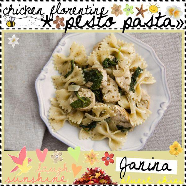 "chicken florentine pesto pasta ♥"" by thebestcookbook on Polyvore"