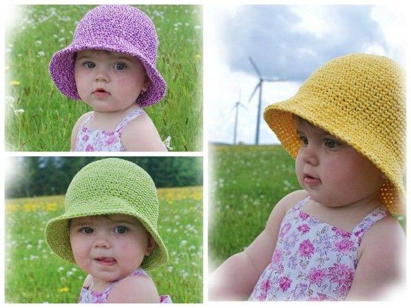 Sommer-Hut // Kinder-Hut selber häkeln << perfekter Sonnen-Schutz für Dein Kind >> Hol Dir jetzt die Häkelanleitung für den Sommer-Hut und leg los.