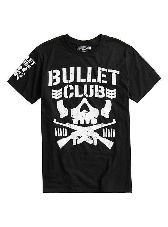 New Japan Pro-Wrestling Bullet Club Logo T-Shirt, BLACK
