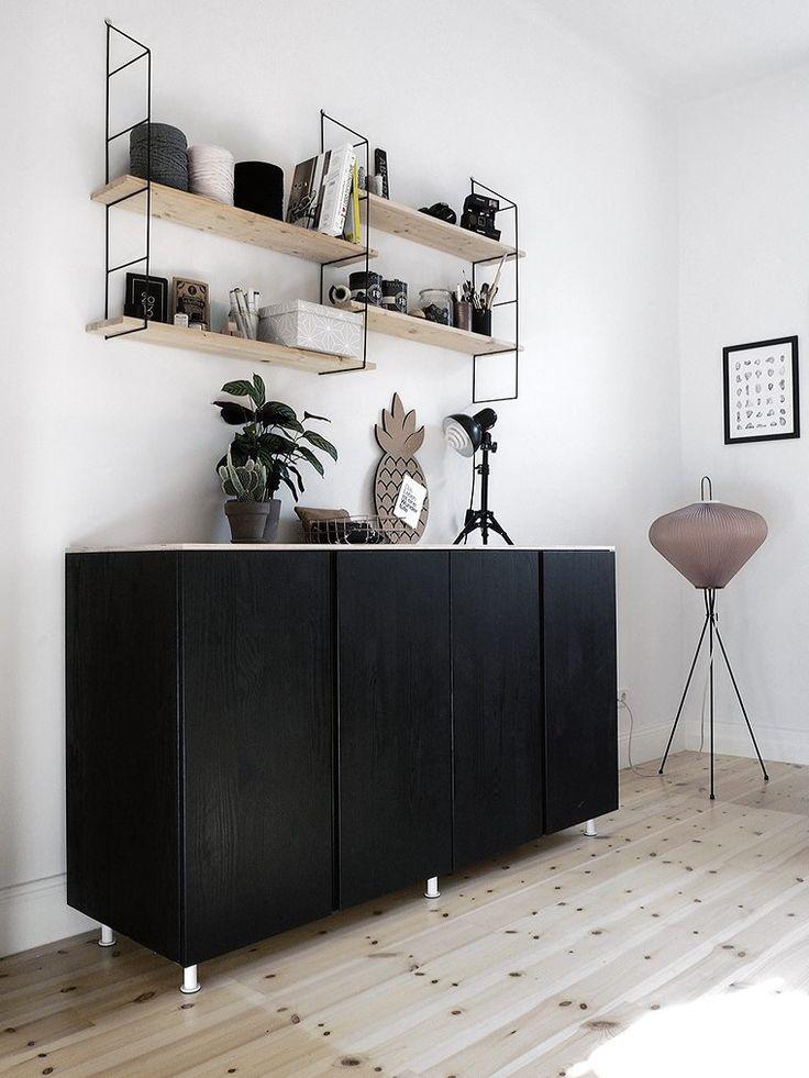 Ivar cabinet black s h e l v e s pinterest cabinets for Ladenblok ivar ikea
