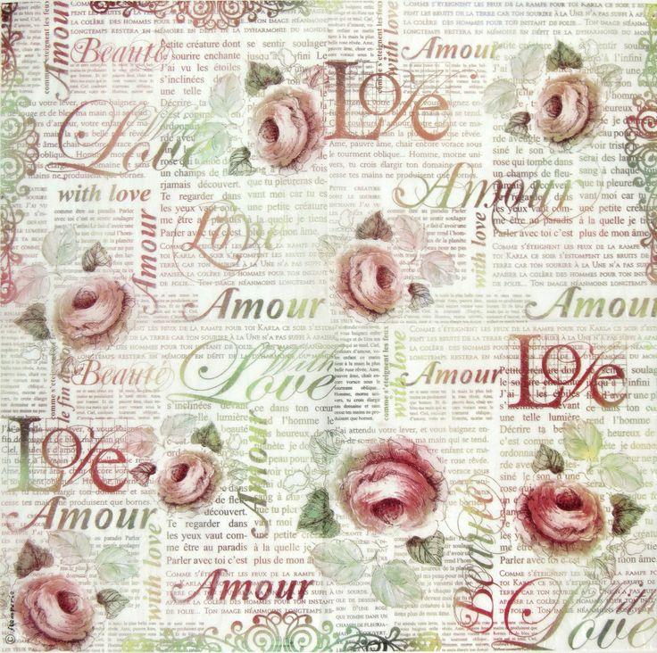 Ricepaper/ Decoupage paper, Scrapbooking Sheets /Craft Paper Love Letter | eBay