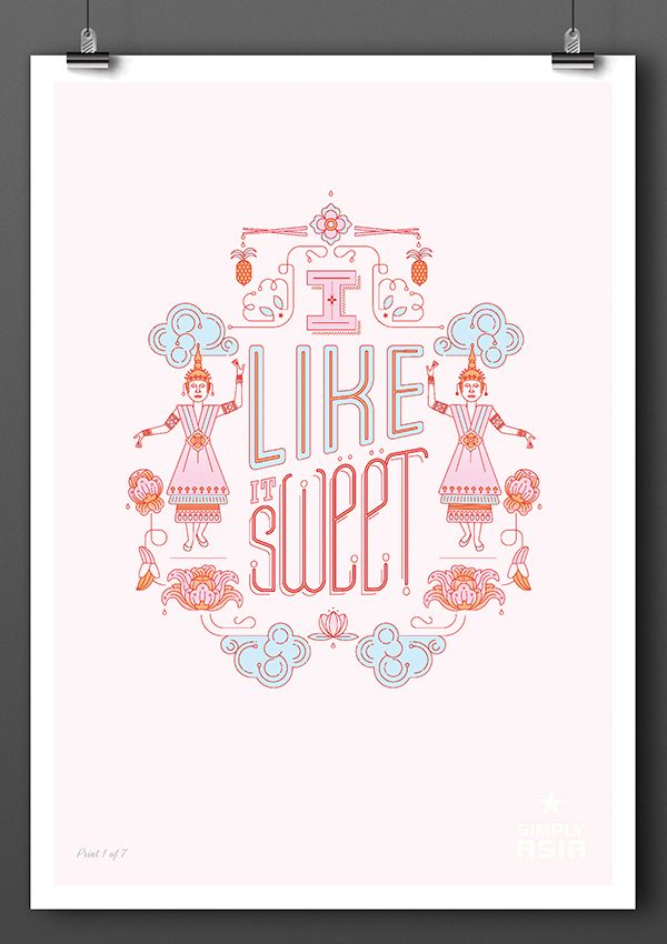 Tastes of Thailand: Limited Edition Posters on Behance