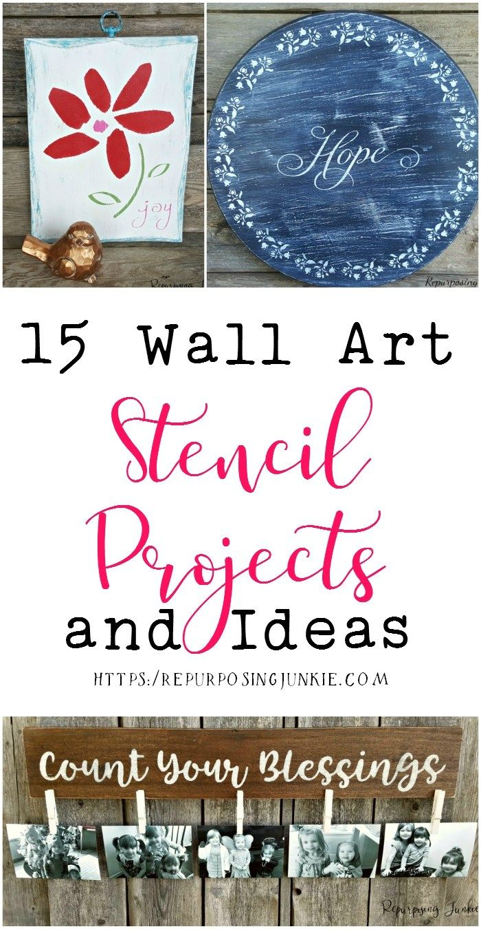 15 Wall Art Stencil Projects and Ideas
