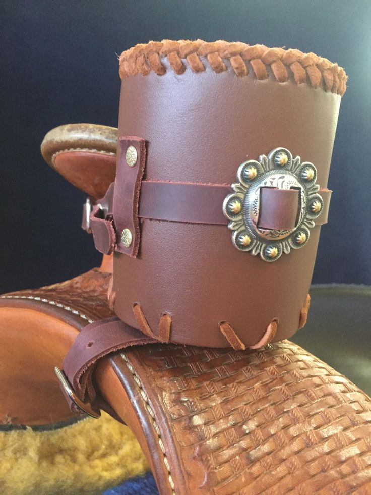 Leather Saddle Horn Drink Holders by RHUSACustomLeather on Etsy