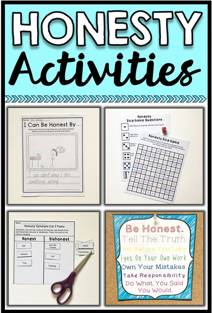 This resource includes 1 lesson plan, 2 worksheets, 1 game, 2 cut & paste activities and 2 posters (BW and color) that cover the theme of honesty. Students will learn what honesty means, why it is important and how they can be honest. A good resource for readers and non-readers. For more information, check out the preview!Please remember to leave feedbackand check out more products you are sure to love:--->Honesty Scoot Game--->Respect Cut & Paste Activities