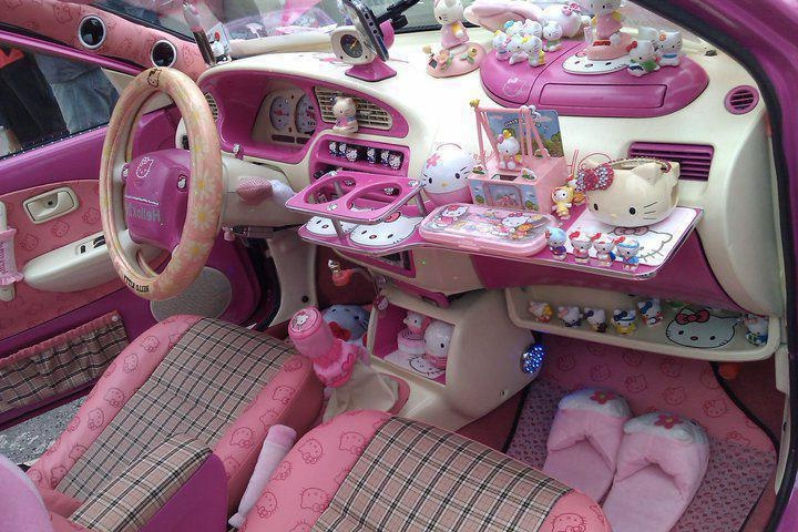 pimped out hello kitty car pimp my ride pinterest cars it is and wall photos. Black Bedroom Furniture Sets. Home Design Ideas