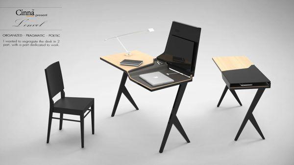 "Desk ""L'envol"" by Charlotte Marie, via Behance"