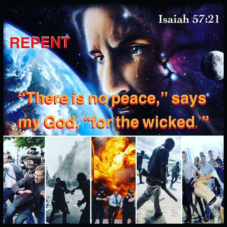 """There is no peace,"" says my God, ""for the wicked."" ✝️❤️✡️ #JESUSCHRIST #Forever  #God #Jesus #HolySpirit #Beautiful #prayer #Israel #Jerusalem #USA #amazing #hope #faith #love #Quotes #Inspiration #Spiritual #luxury #Business #Entrepreneur #wisdom #Success #Motivation #money #Spirituality #strength #bible #AreYouSaved?  Repent & Be Baptized  Isaiah 57:21"
