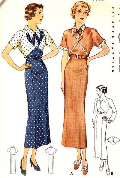 McCall 8290 | 1935 Junior Miss Dress & Eton