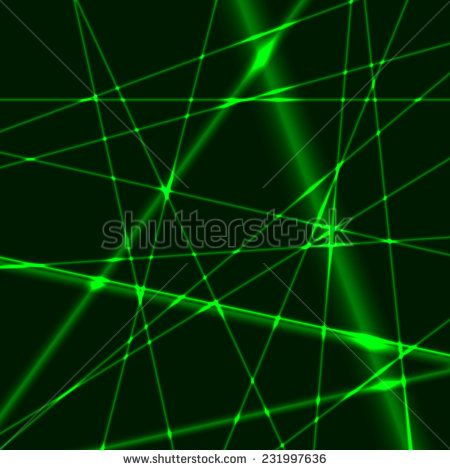 Abstract background made from green laser beams
