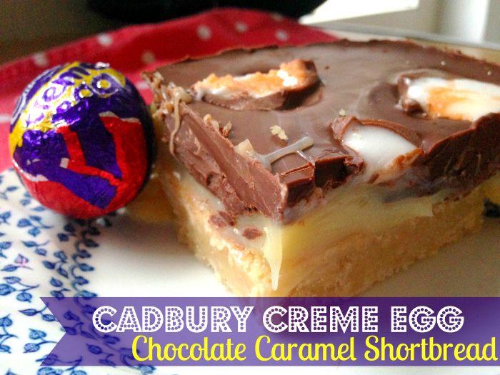 OMG - Cadbury Creme Egg Chocolate Caramel Shortbread