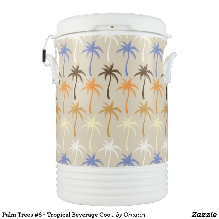 Palm Trees #6 - Tropical Beverage Cooler Igloo Beverage Dispenser