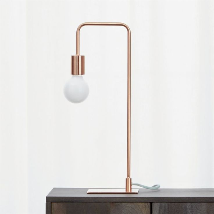 CB2 Arc Copper Table Lamp 66 best