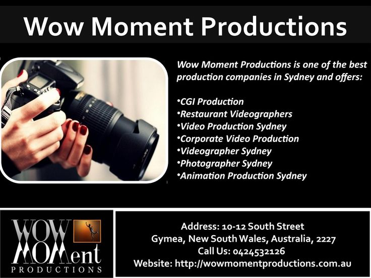 Photographer Sydney, Animation Production Sydney