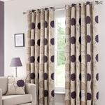 Plum Louisa Lined Eyelet Curtains #purple #home #decor #dunelm