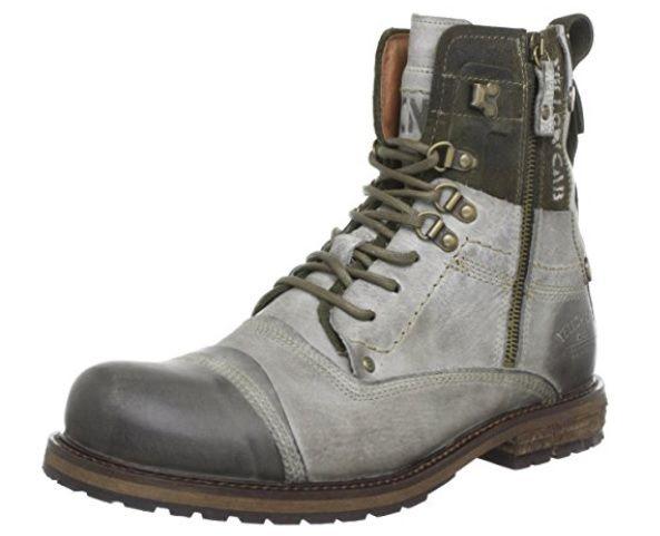Botas militares de cuero gris  #Botas #Calzado #ModaAmazon #ModaHombre #Outfit #Men #Hombre