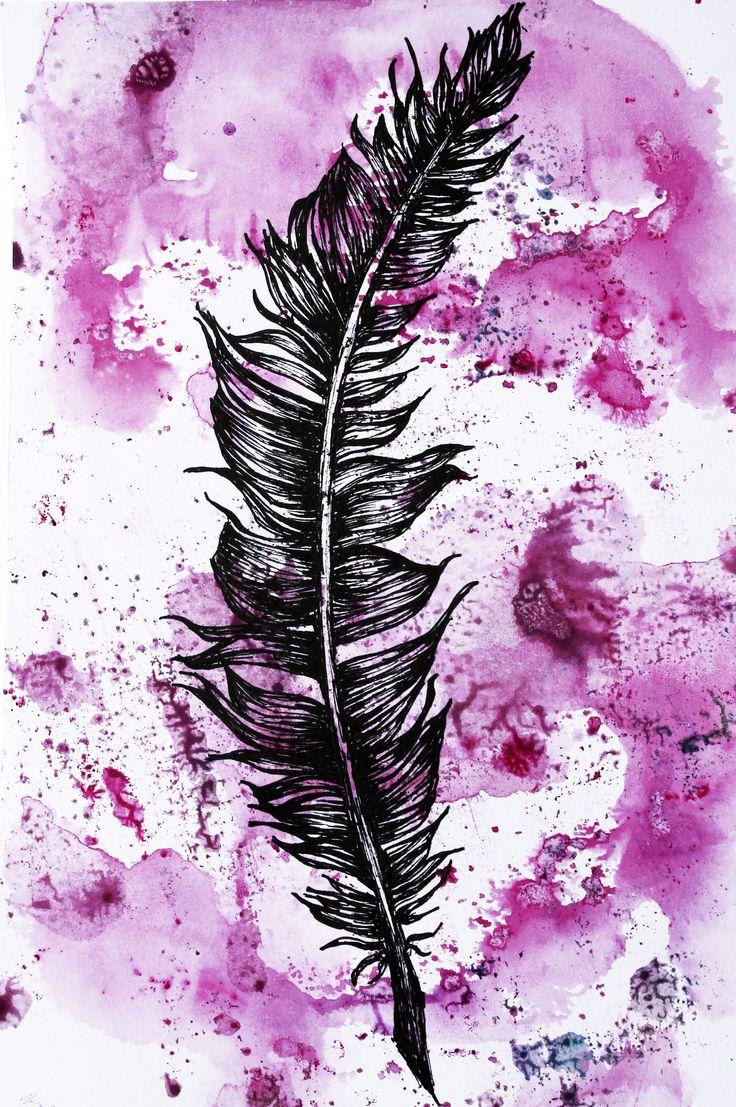 Feather Drawing (Molly Burnip) www.mollyburnipart.com