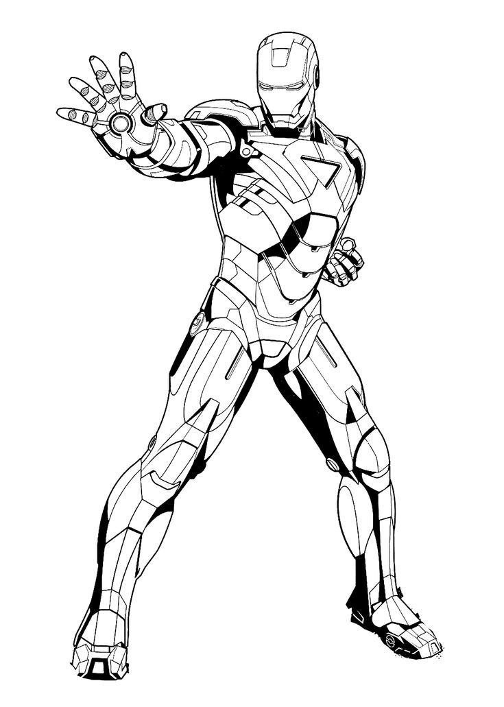 Iron man stop coloring pages for