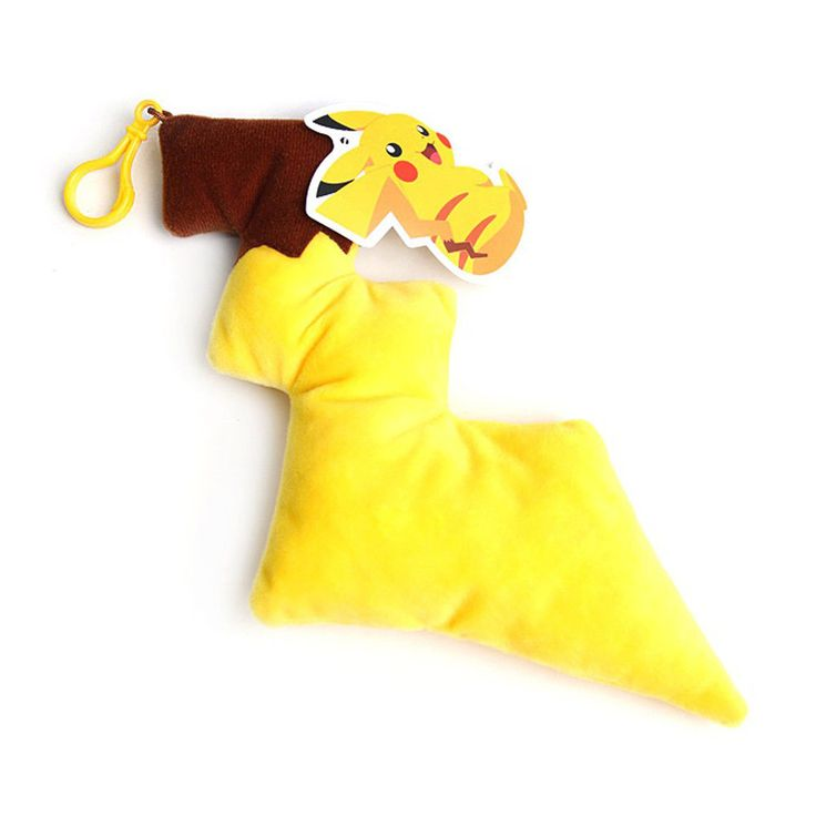Authentic Pokemon Character Pikachu Tail Accessory Backpack Clip 29cm Plush Doll #Pokemon