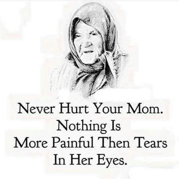 Seeing our mothers cry is the worst. Show her love daily! ❤