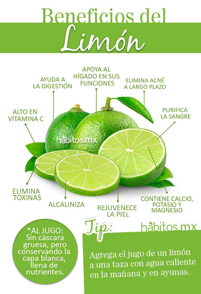 Beneficios del limón Infografía tomada de http://www.habitos.mx/                                                                                                                                                      Más