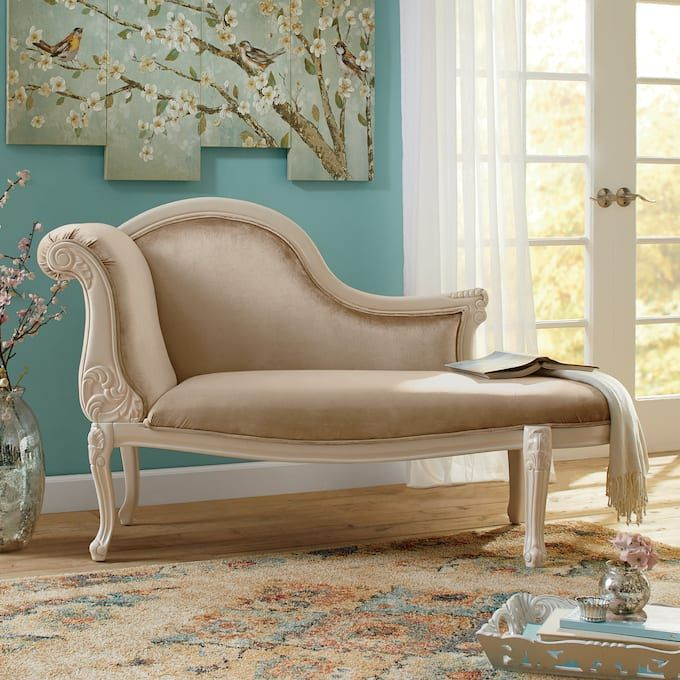 Ariana Carved Chaise From Seventh Avenue Chaise Furniture Hand Carved Furniture