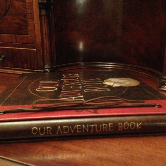 Our Adventure Book is the exact same album that we created for the real production crew for the movie Up! The front cover is our original custom