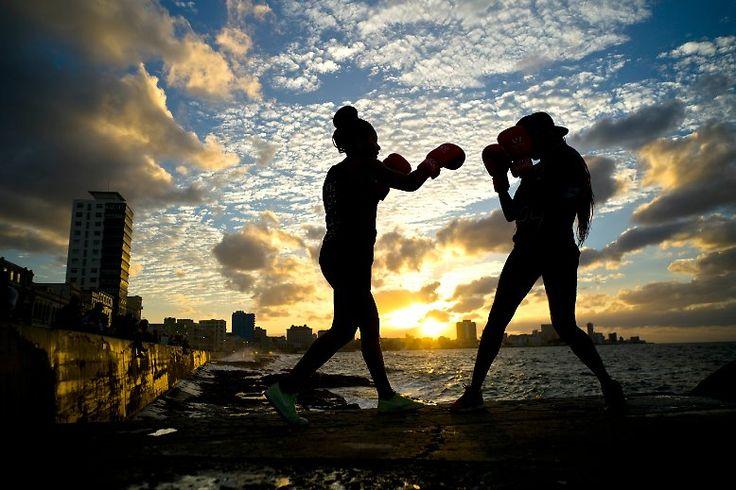 Schöne Aussichten: Boxtraining auf Kuba.