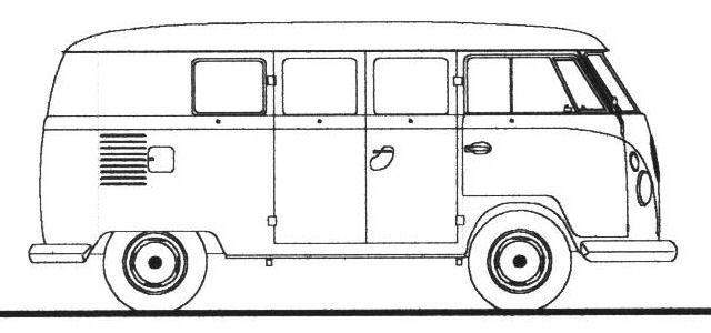 Kleurplaat Just Married 10 Photo Of 29 For Volkswagen Line Drawing Vw