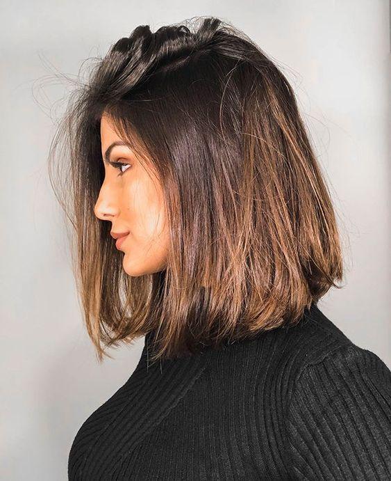 30+ gerade Frisuren mittlerer Länge sehen für Frauen attraktiv aus