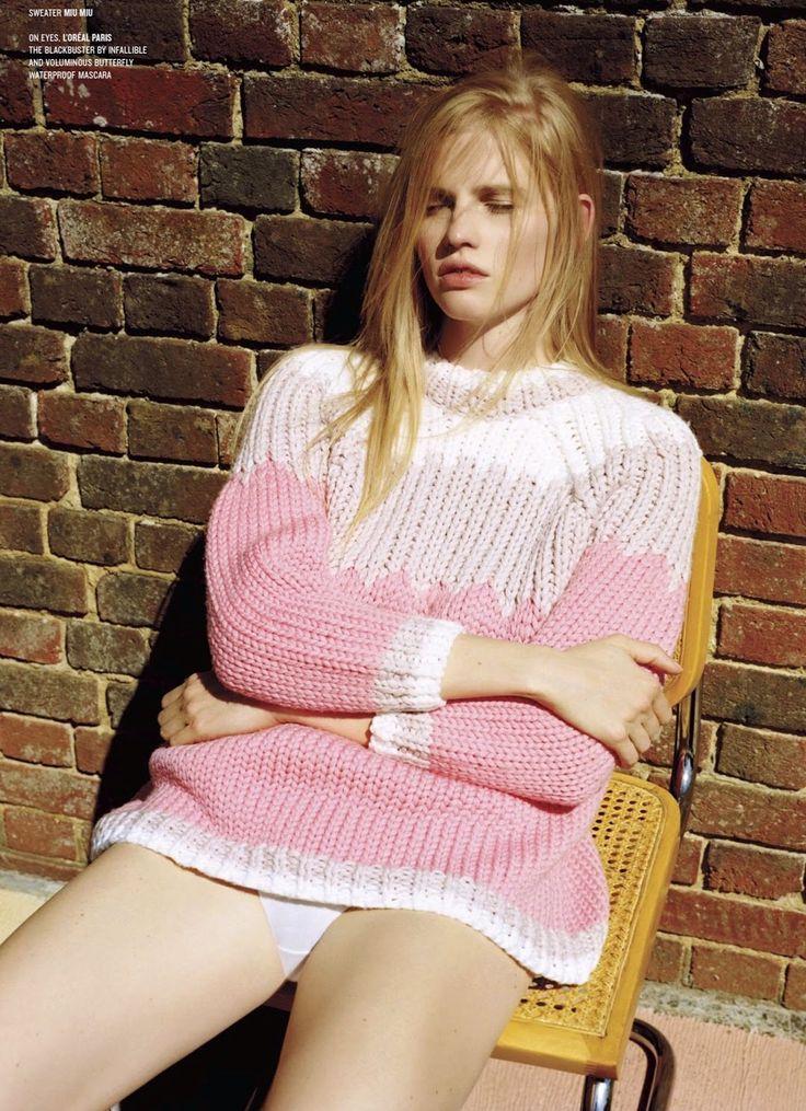 Dream Weaver: Lara Strone in Miu Miu Fall 2014 for V Magazine #91 Fall 2014 by Alasdair McLellan