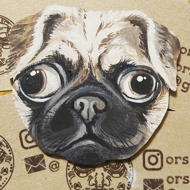 Dogy dog #orsoface #orsinhaface #timelapse #muzzle #animalface #animalfaces #facetoface #facetime #mops #dog #dogs #dogs #lovedog #littleone #workinprocess #workinprogress #workforfun #mywork #myart #colour #colourfull #собака #морда #ручнаяроспись #handmade #handcrafted #мопс #фанера