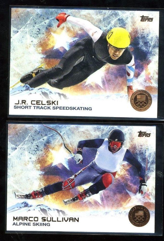 J.R. CELSKI  Topps Olympic card #14 ST Speedskating US Olympic Team NM