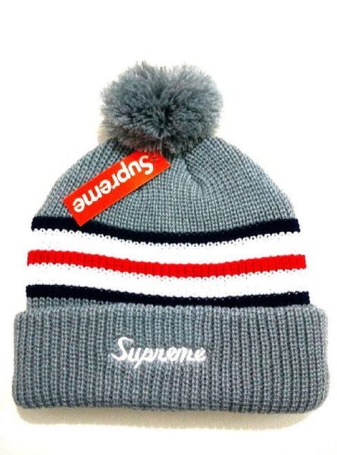 8dc5bb42ff3 2017 Winter Hot Supreme Beanie knitted hat
