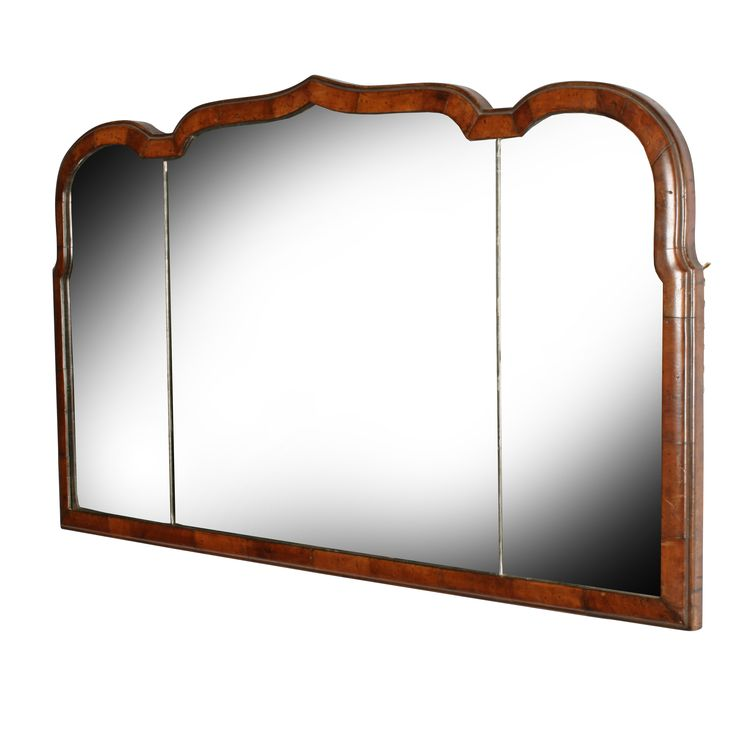 Queen Ann Style Walnut Overmantel Mirror