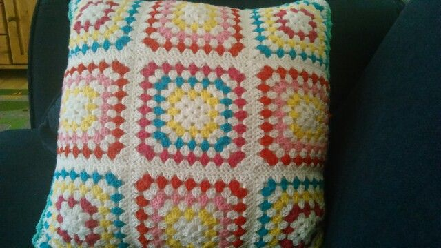 Crochet pillow, back