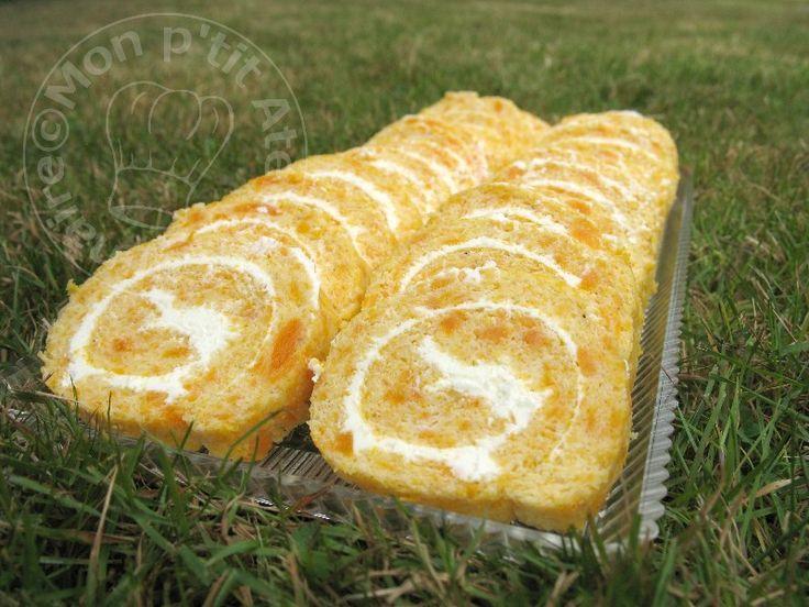Roulé carottes fromage ail et fines herbes