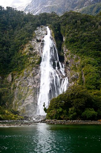 Milford Sounds - the first of many falls | Flickr - Photo Sharing!