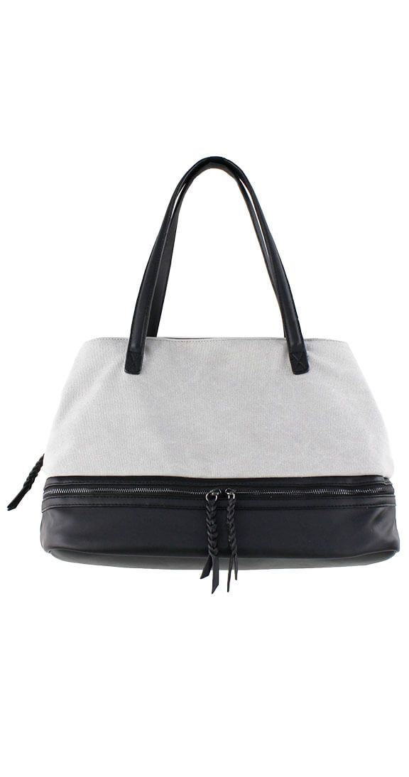 Silver Icing Superior Style Tote #silvericing #handbag #bag #lightgrey #tote #bag #accessories #completethelook #veganleather #trendy #trending #bottomcompartment #lightgreytote