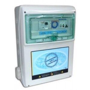 Cuadro eléctrico para electrobomba de piscina y un foco de 300 W.