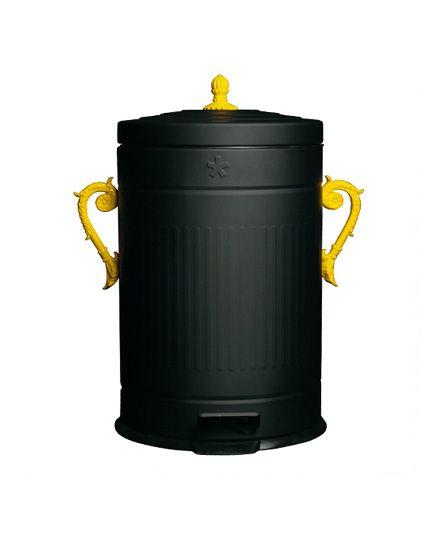 poubelle noire et jaune trash chic seletti 136 - Poubelle De Cuisine Jaune