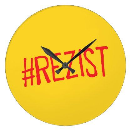 rezist romania political slogan resist protest sym large clock - decor gifts diy home & living cyo giftidea