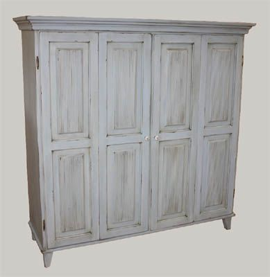 TV-kaappi taivaan sininen, TV cabinet distressed sky blue