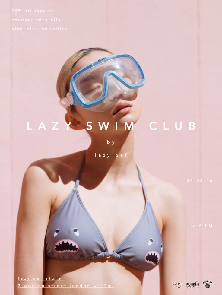 Join the Lazy Swim Club | Lazy Oaf Journal. Photography. Colour palette. Text placement.