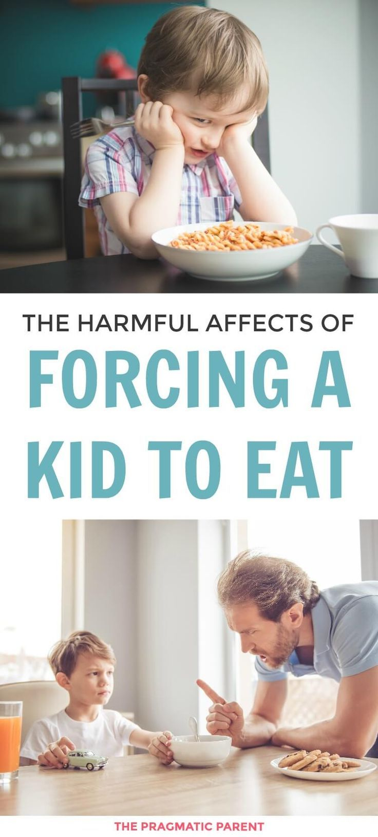 Forcing kids to eat has longterm effects, especially forcing kids to eat food they don't like.