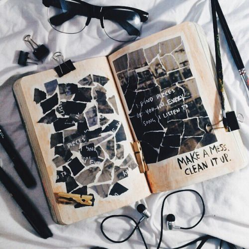 Make a mess. Clean it up. #wreckthisjournal