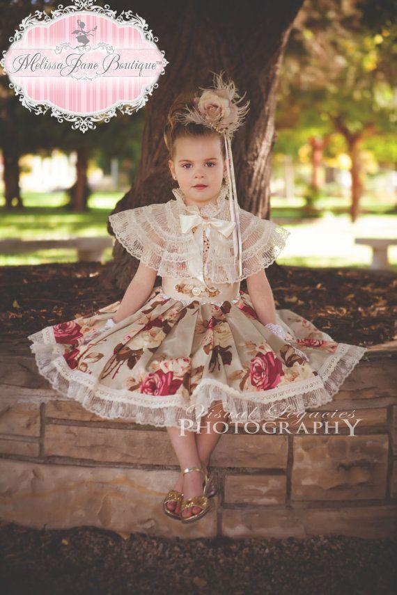 Autumn Flowers Girls Princess Dress by MelissaJaneBoutique on Etsy