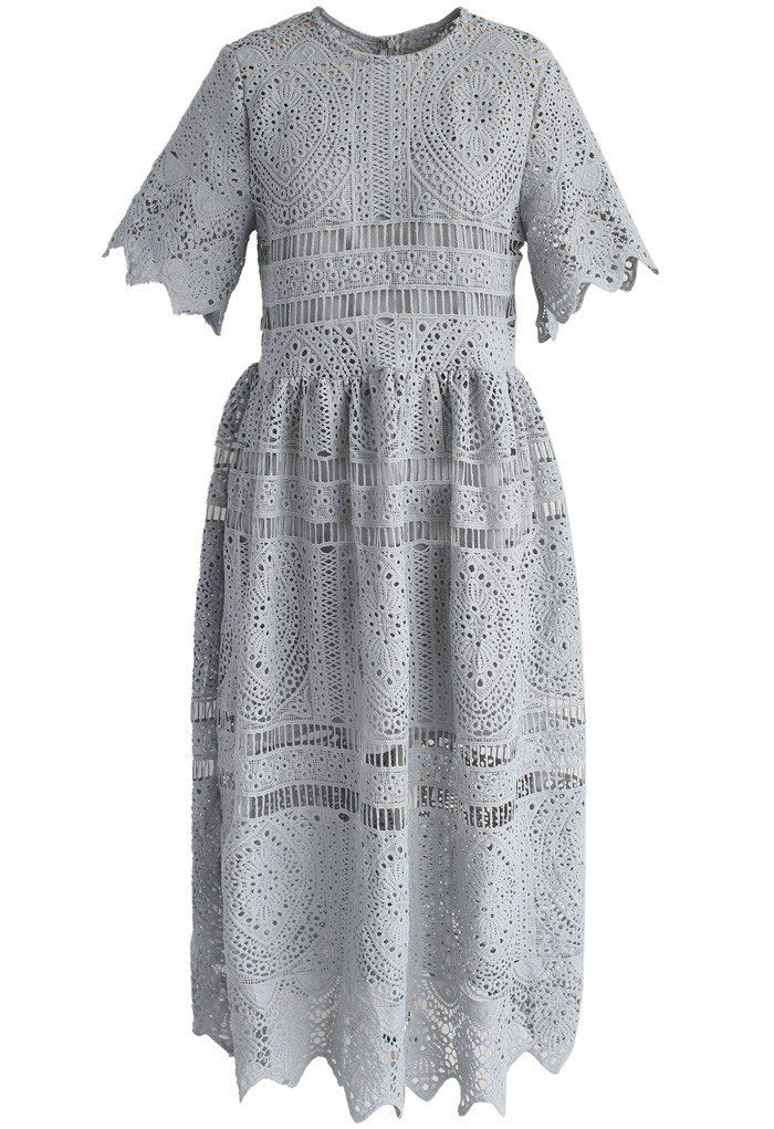 With Your Ingenuity Crochet Dress in Grey - New Arrivals - Retro, Indie and Unique Fashion